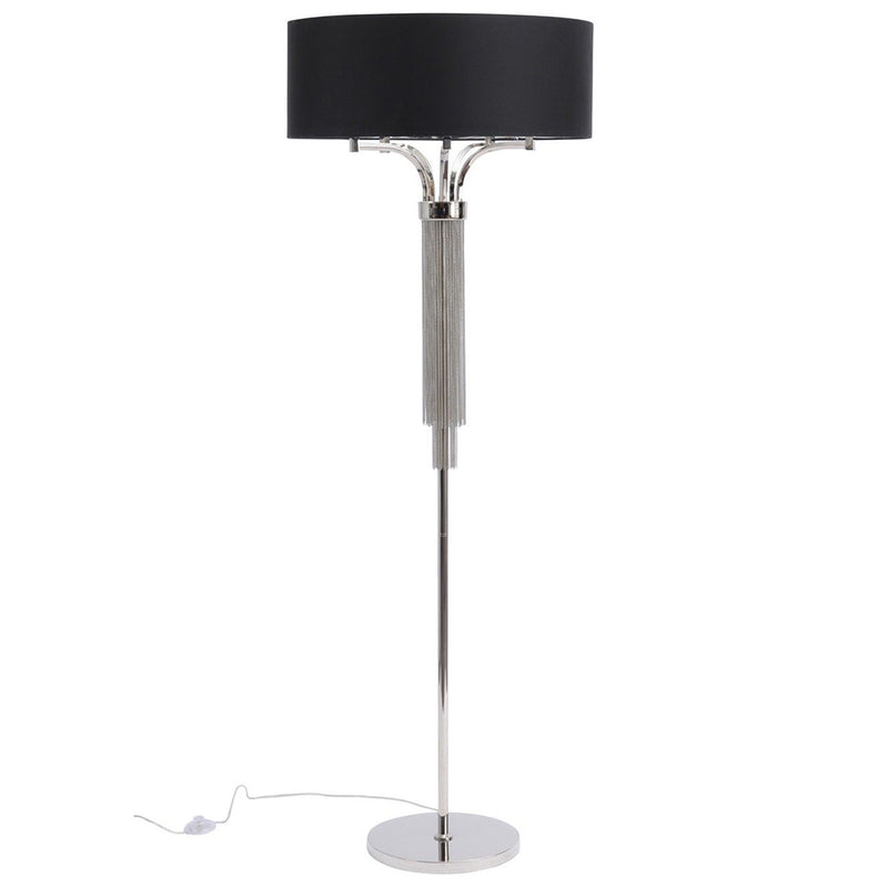 Langan Floor Lamp With Black Shade