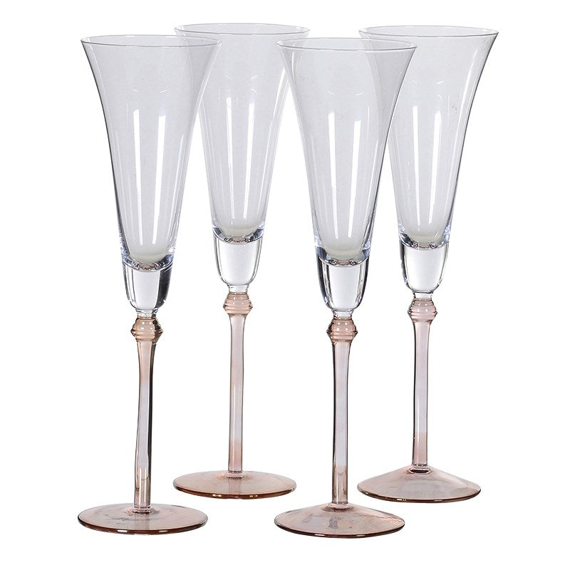 Rose Tinted Champagne Flutes