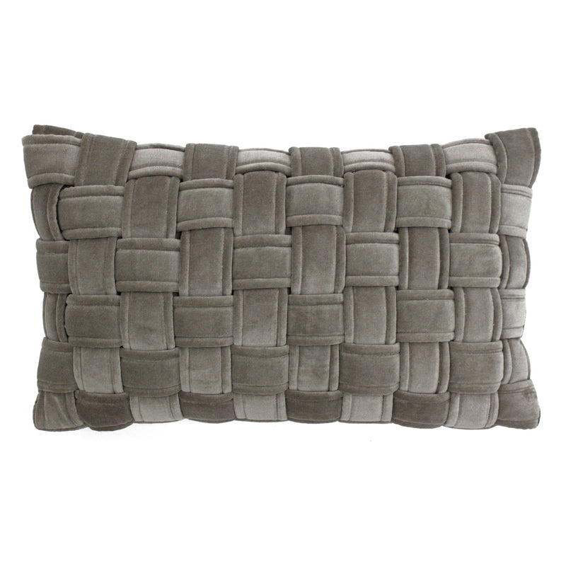 Taupe Kross Cushion Cover