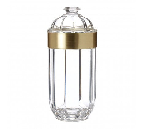 Large Gold Acrylic Canister