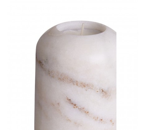 Large White Marble Candle Holder