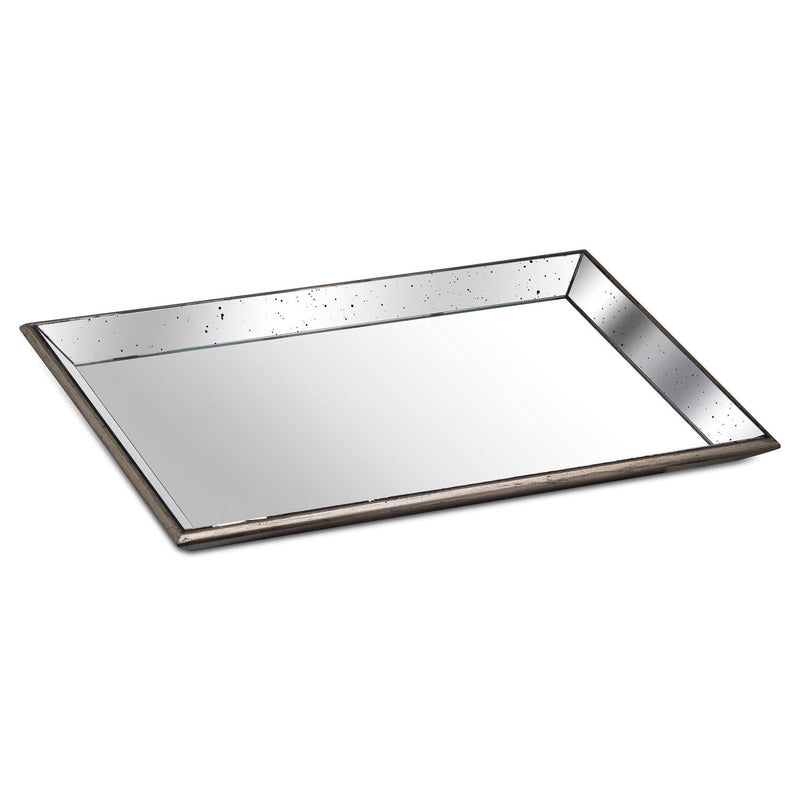 Large Distressed Mirrored Tray
