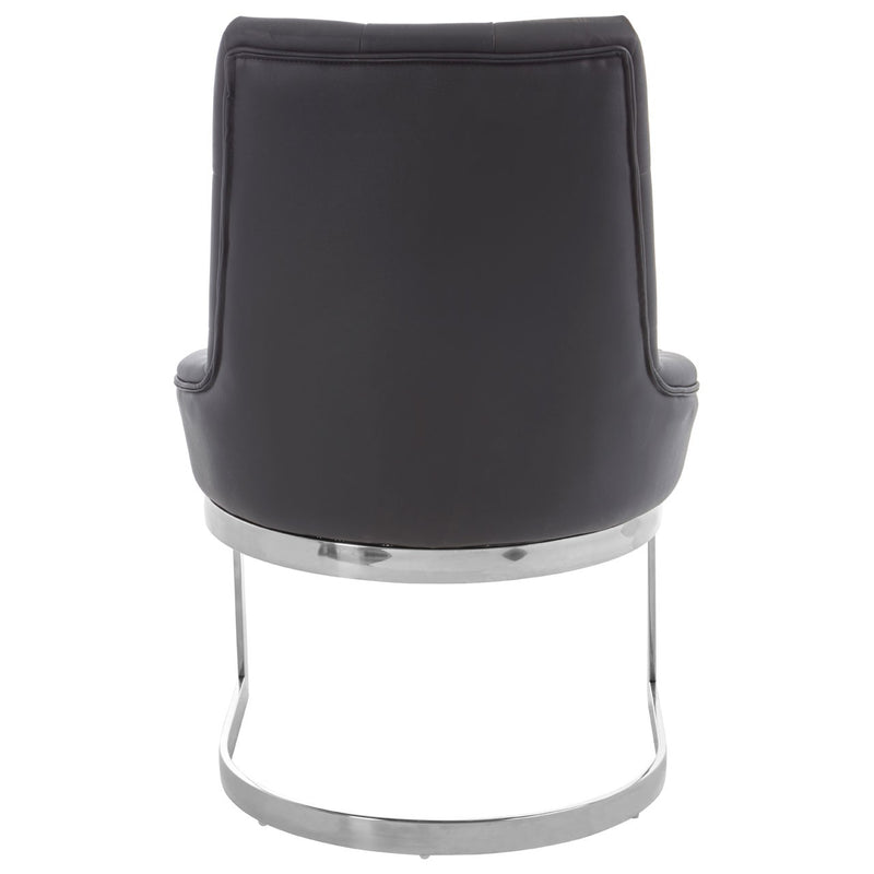 Luxe Black Chrome Base Dining Chair