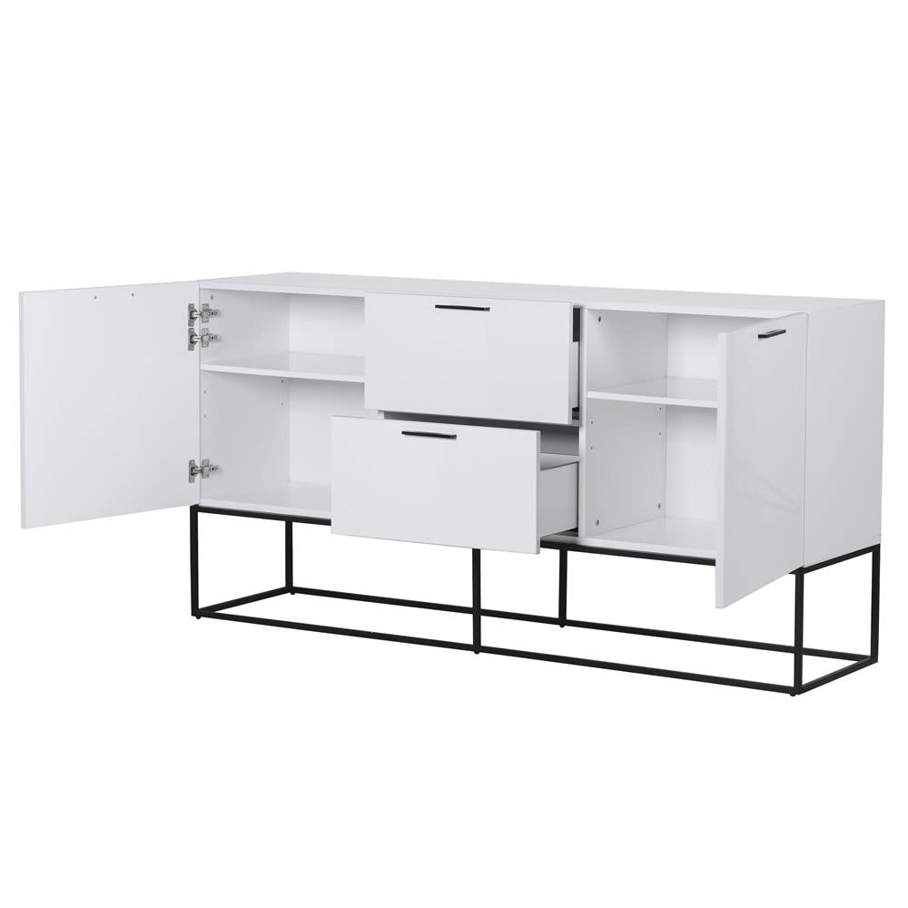 Contemporary White Gloss Cabinet