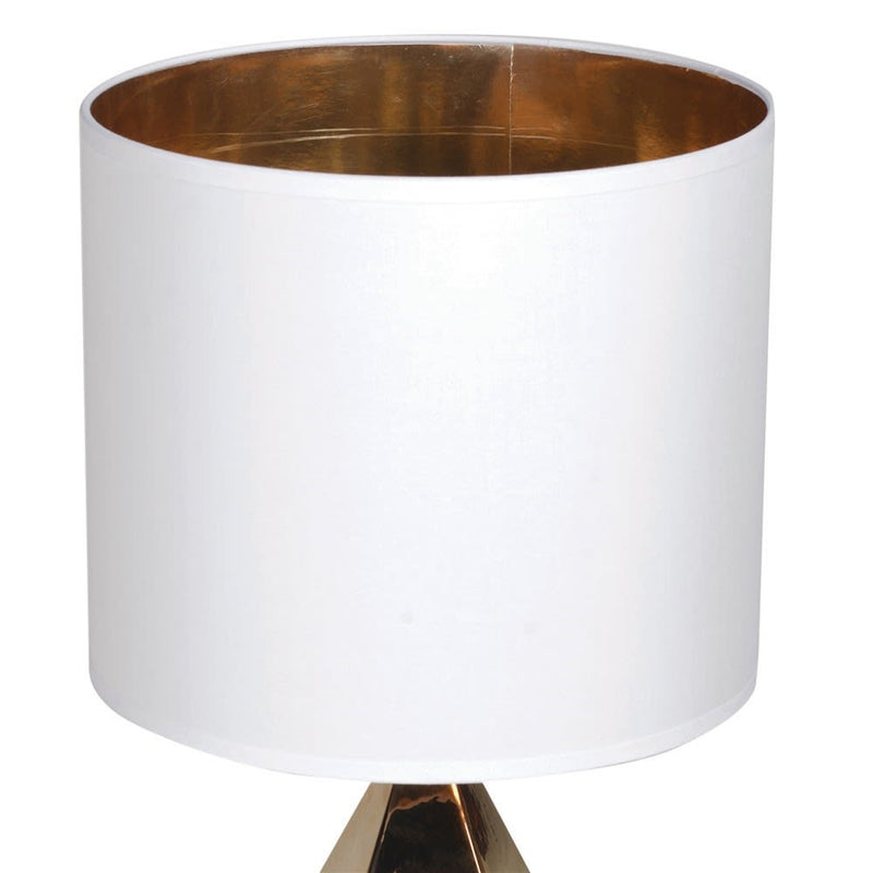 Gold Pyramid Table Lamp
