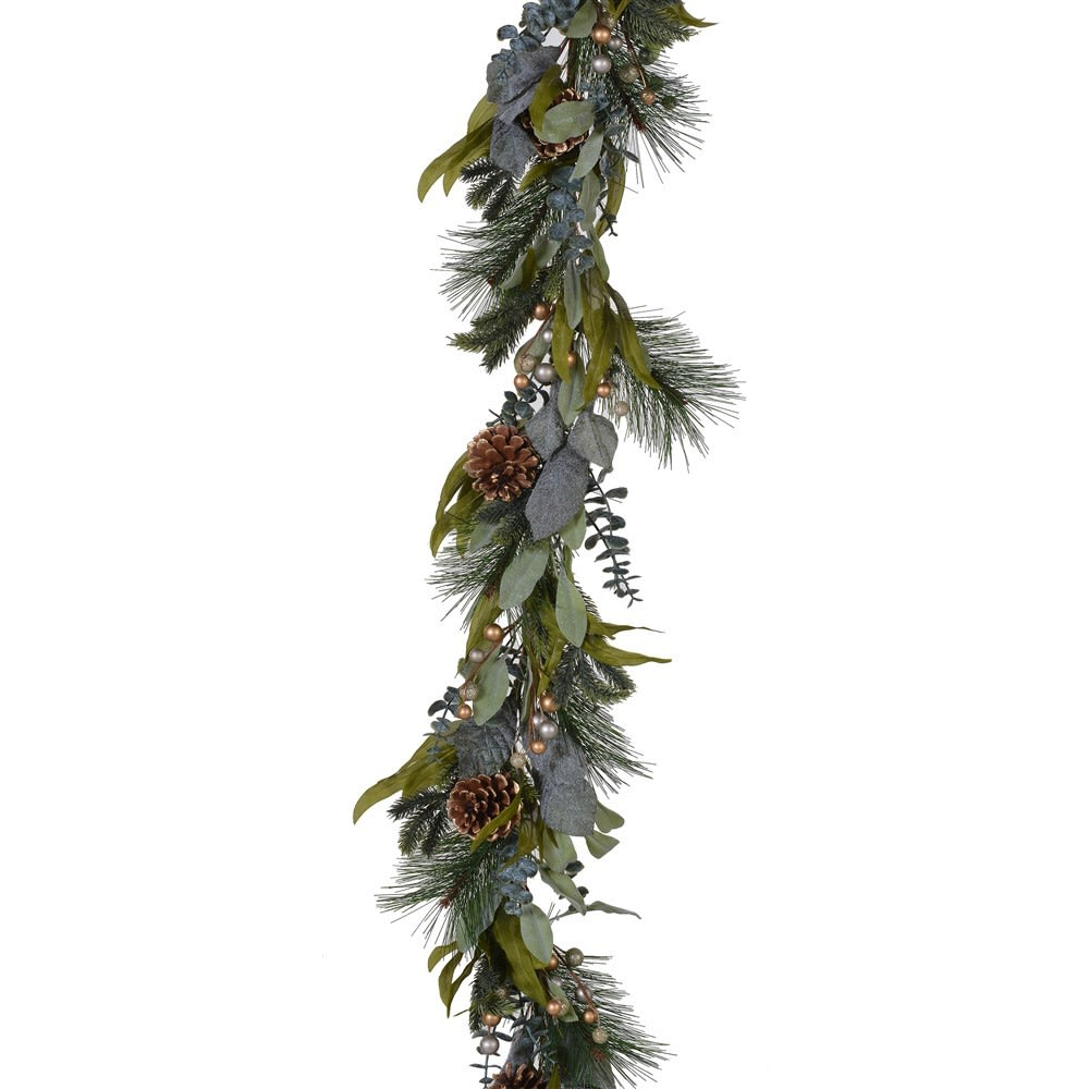 Gold Berry and Pinecone Garland