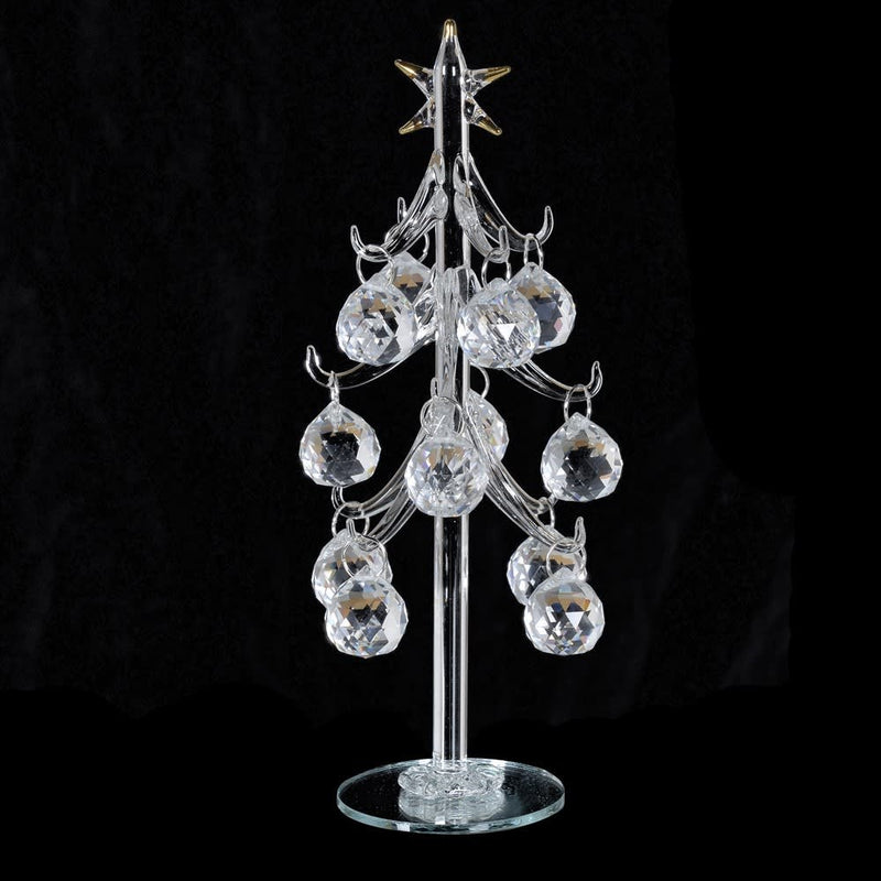 Glass Tree With Crystal Baubles