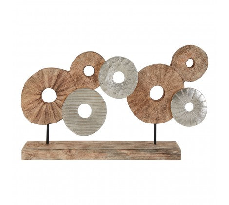 Mango Wood Disc Sculpture
