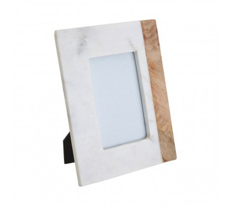 Small Marble and Mango Wood Photo Frame