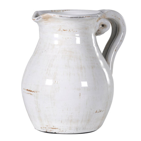 Large Grey Bottle Vase