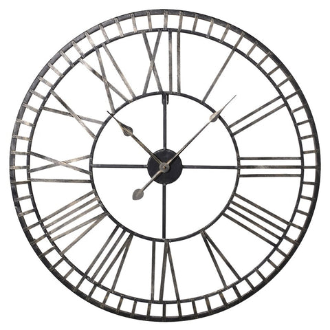 Chrome Roman Numeral Clock
