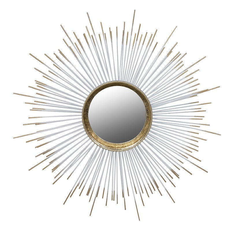 Spiked Gold Round Mirror