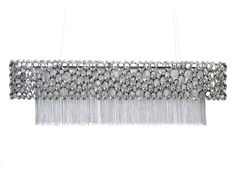 Silver Rectangular Detail Chandelier