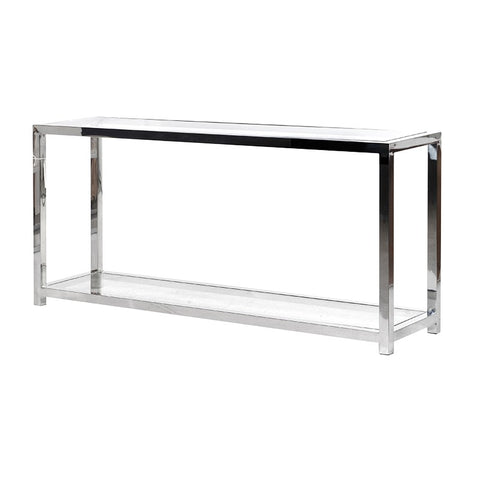 Silver Geometric Coffee Table