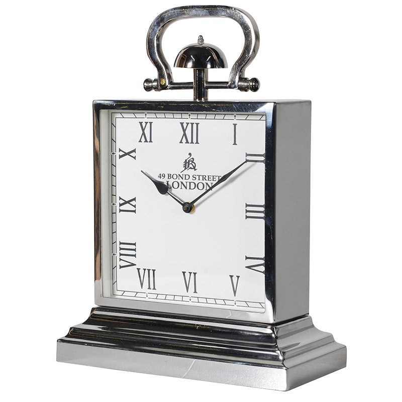 Square Steel London Mantel Clock