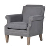 Buttoned Wing Chair