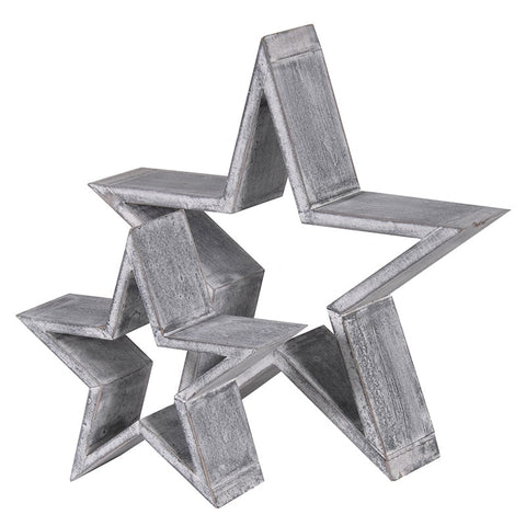 Large Silver Star Ornament