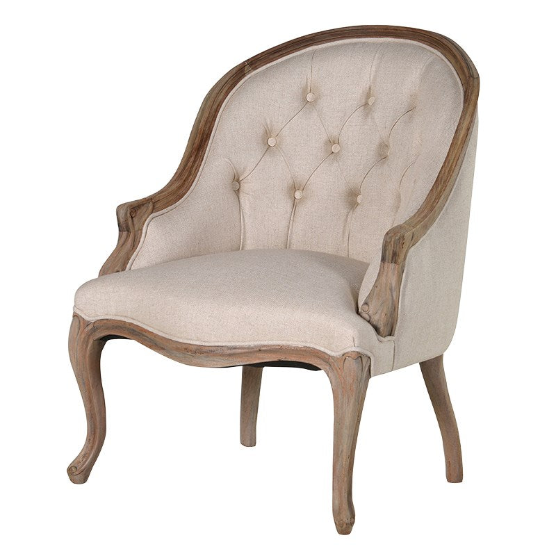 Linen Buttonback Chair