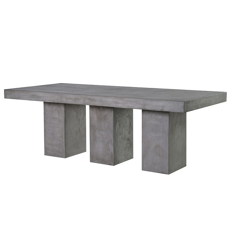 Large Grey Concrete Dining Table