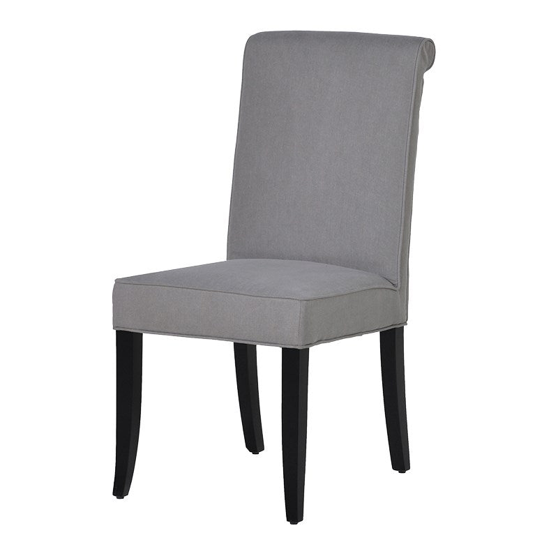 Grey Fabric High Back Dining Chair