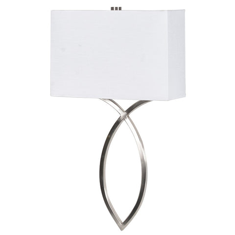 Curve Chrome Wall Light With White Shade