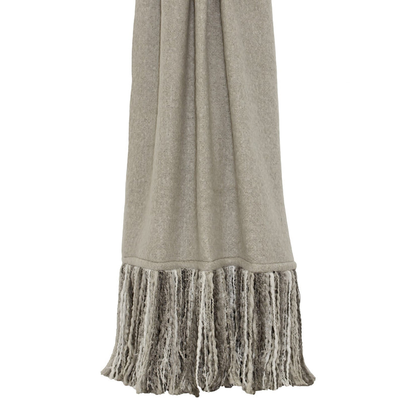 Neutral Multi-Tone Tassel Throw
