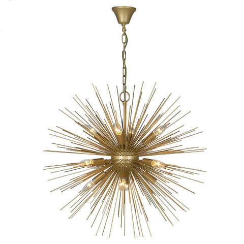 Apollo Gold Starburst Ceiling Light