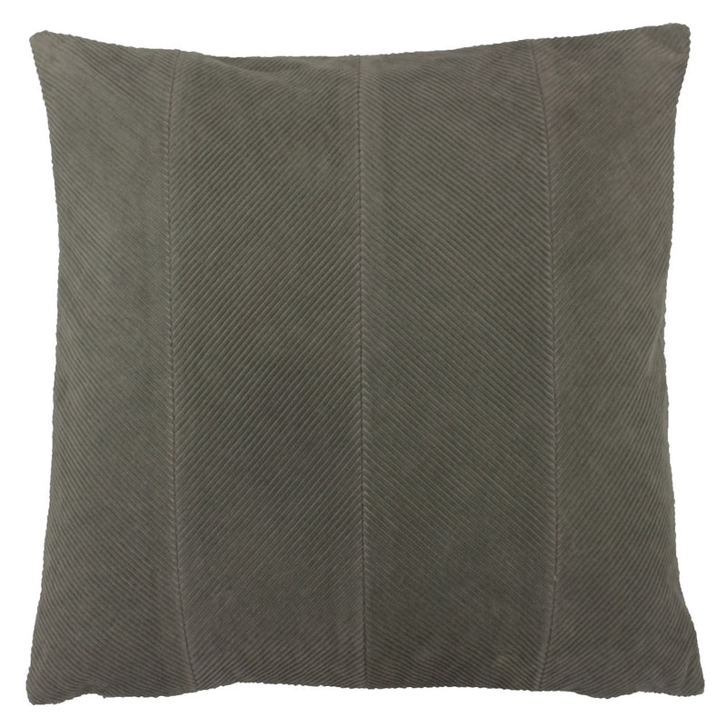 Grey Panelled Cushion Cover