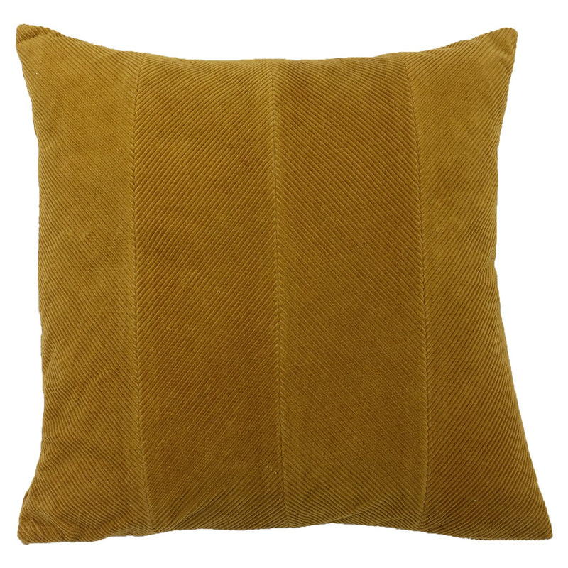 Ochre Panelled Cushion Cover