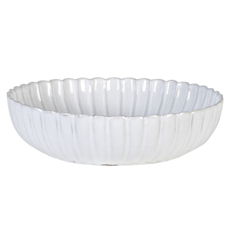 White Ceramic Petal Bowl