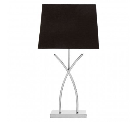 Silver Antler Table Lamp