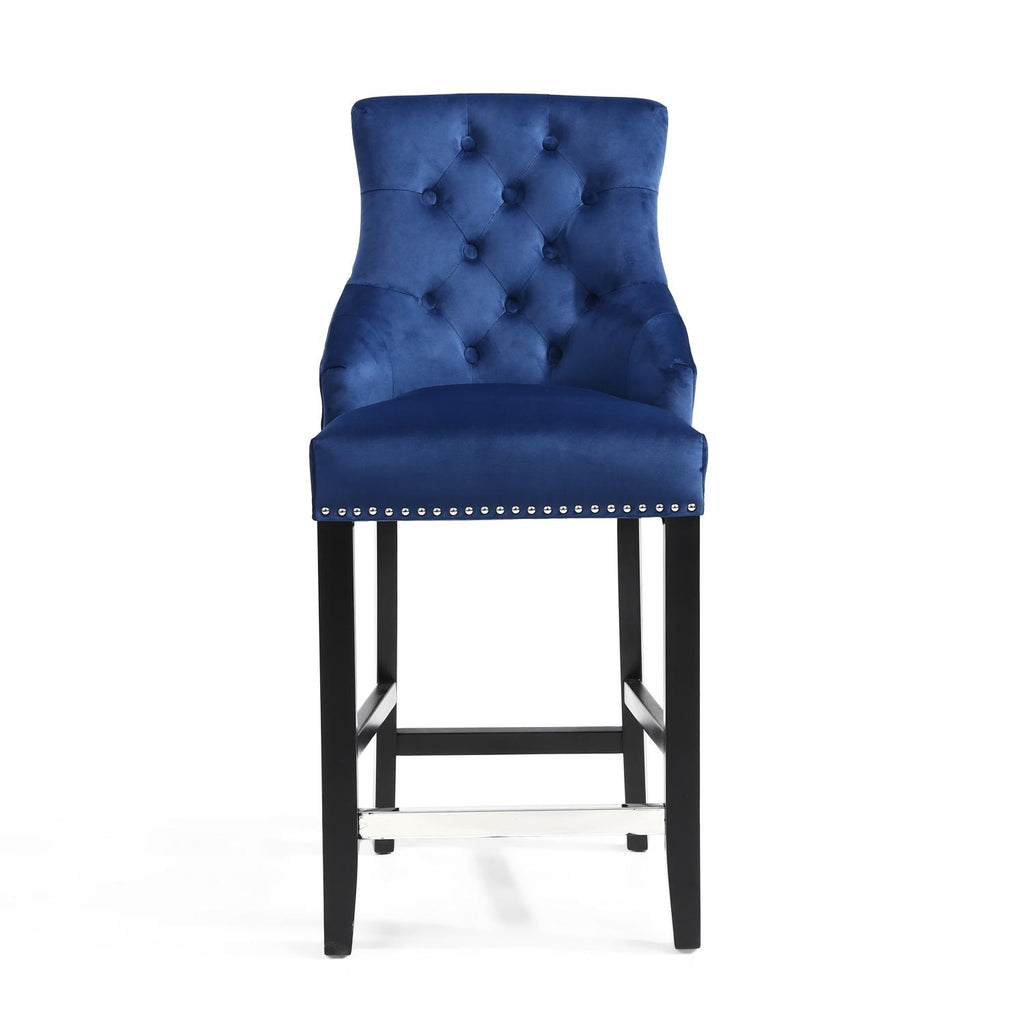 Cadell Blue Bar Stool