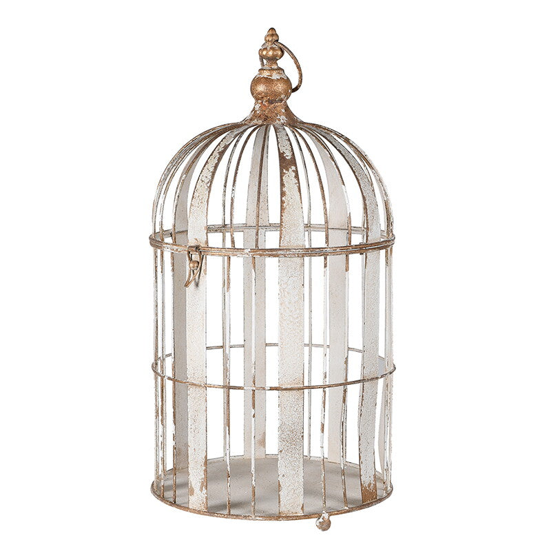 Distressed Effect Metal Birdcage