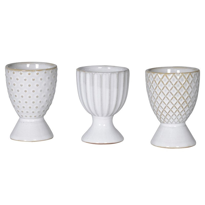 Set Of 3 Grey Mix & Match Egg Cups