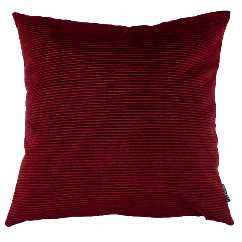Red Rippled Cushion Cover