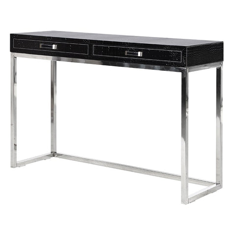 Faux Stingray Leather Console Table