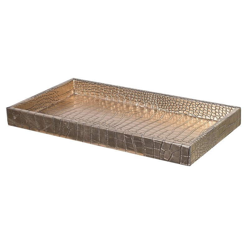 Small Gold Snakeskin Effect Tray