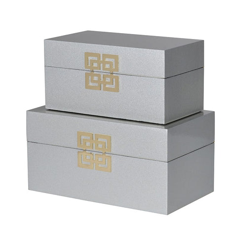 Light Grey Faux Leather Boxes
