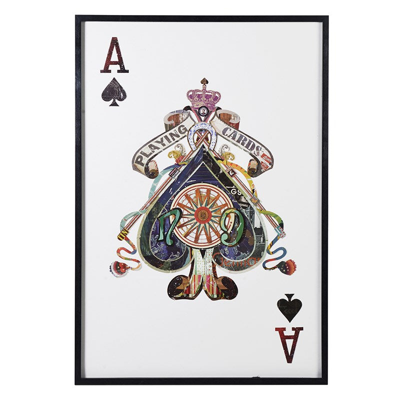 Ace Of Spades Picture With Black Frame