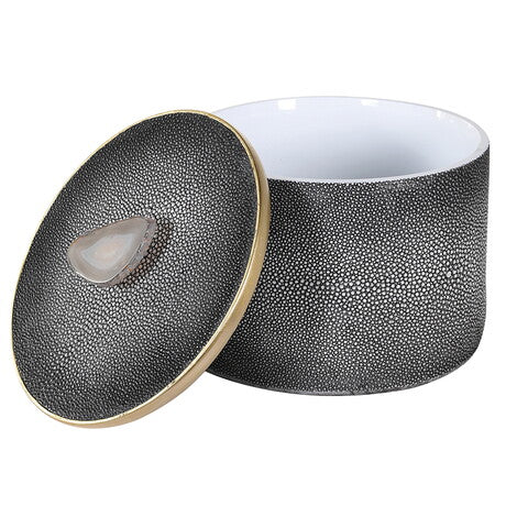 Shagreen Box with Agate Handle