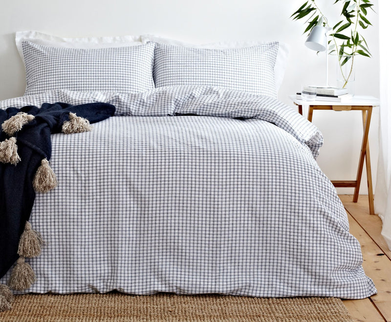Blue Gingham Duvet Set