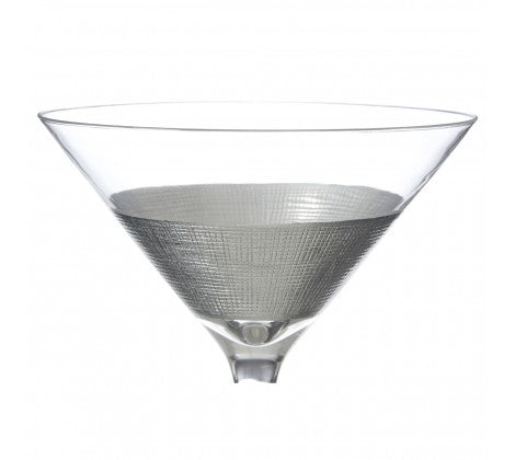 Silver strip Cocktail Glasses