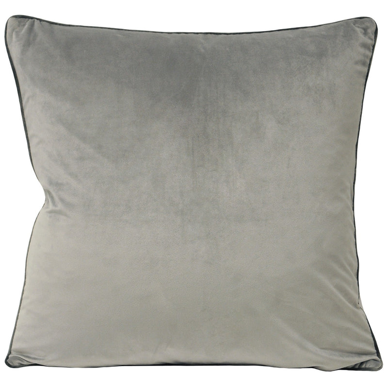 Dove Cushion Cover with Charcoal Piping