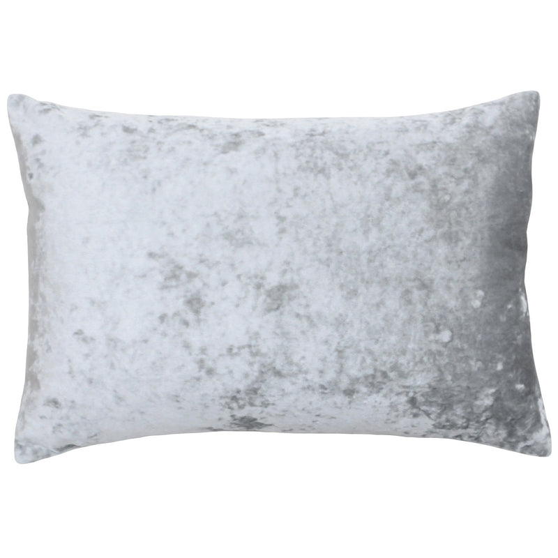 Silver Crushed Velvet Cushion Cover