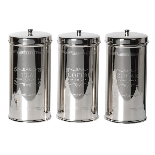Silver Tea, Coffee and Sugar Cannisters