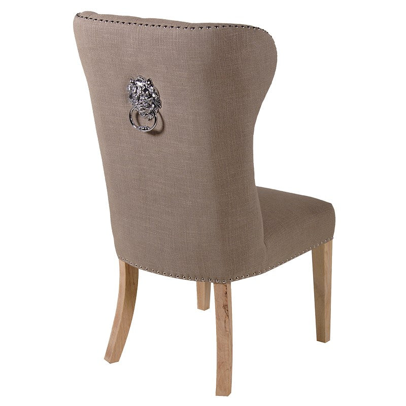 Buttoned Lion Head Dining Chair