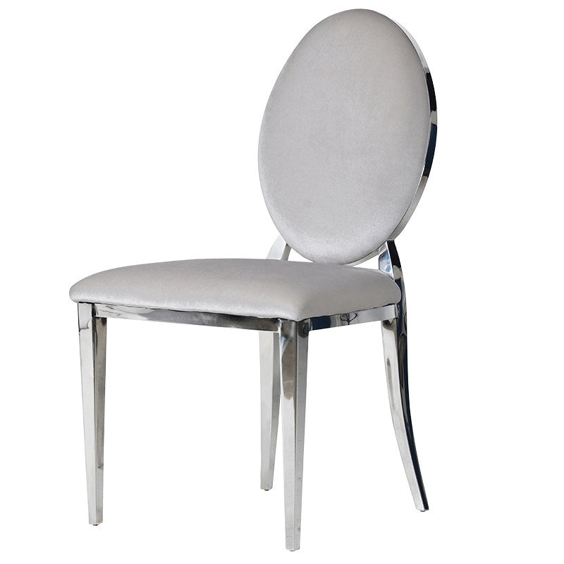 Silver Oval Back Dining Chair