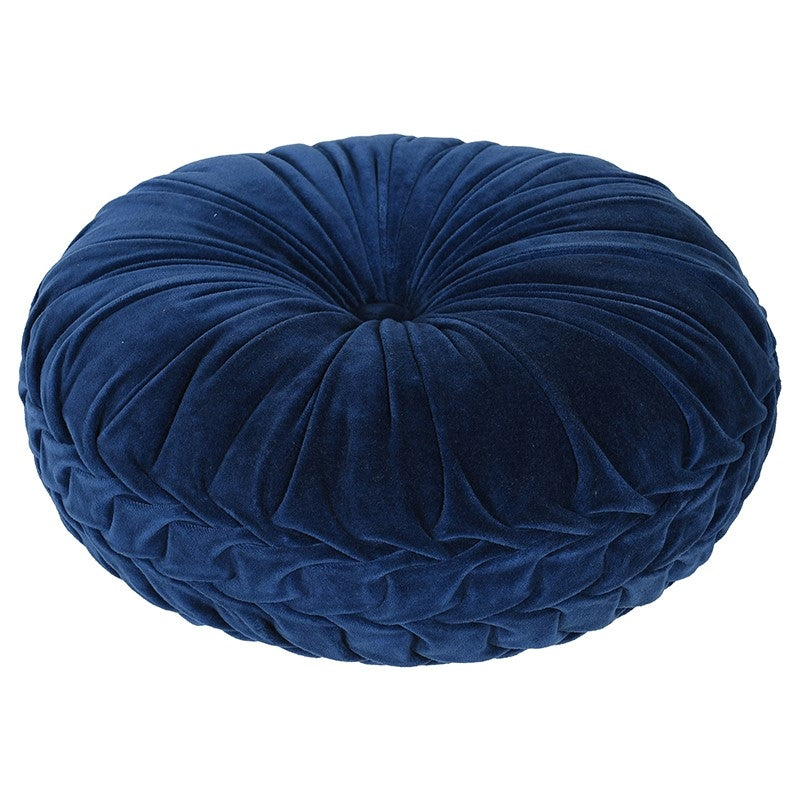 Blue Ruffle Cushion