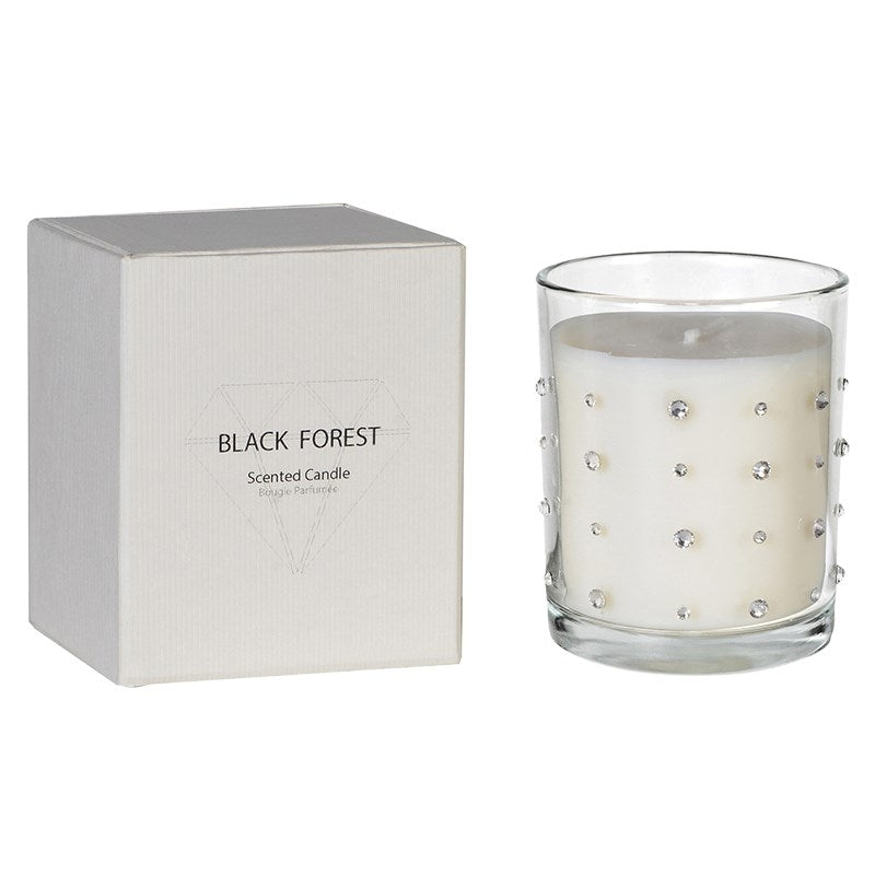 Black Forest Diamante Candle With Box
