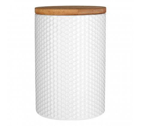 Tall White Dolomite Storage Canister